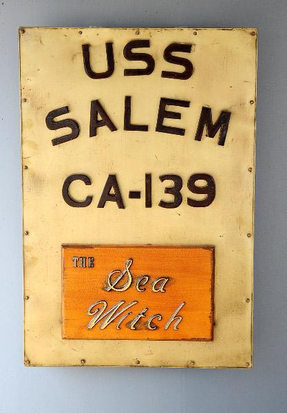 USS Salem plackard