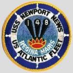 USS Newport News CA 148 logo